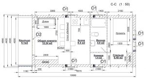 План дома МАЛЫШ-1